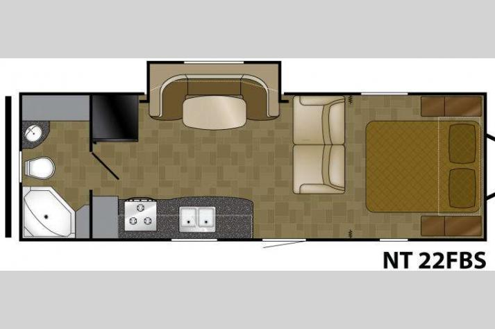 Floorplan - 2013 Heartland North Trail 22FBS