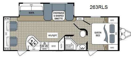 Floorplan - 2013 Dutchmen RV Kodiak 263RLSL