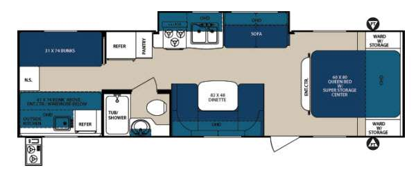 Floorplan - 2013 Forest River RV Surveyor Sport SP 295