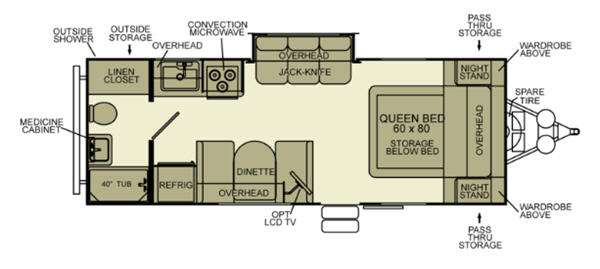 Floorplan - 2013 EverGreen RV Ever-Lite 27RB