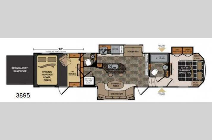 Floorplan - 2013 Dutchmen RV Voltage V3895