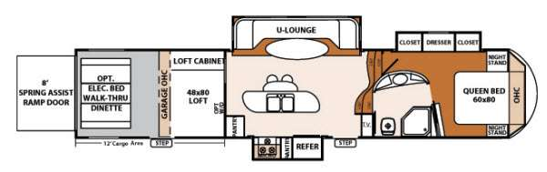 Floorplan - 2013 Forest River RV XLR Thunderbolt 395AMP12