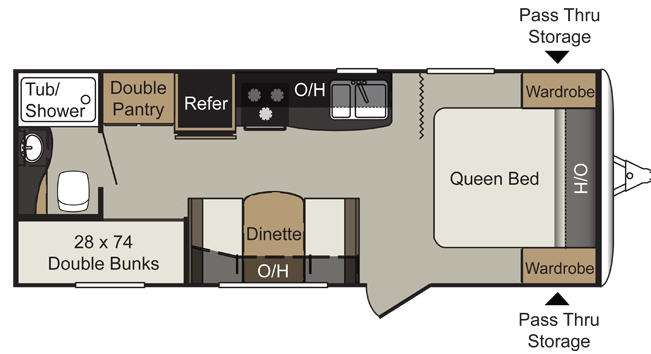 Floorplan - 2013 Keystone RV Passport 238MLWE Express