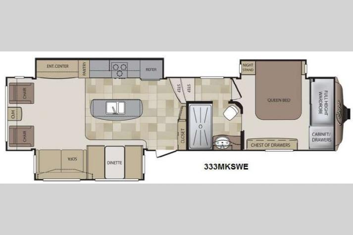 Floorplan - 2013 Keystone RV Cougar 333MKSWE
