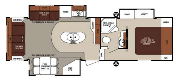 Floorplan - 2013 Forest River RV Surveyor SVF 293