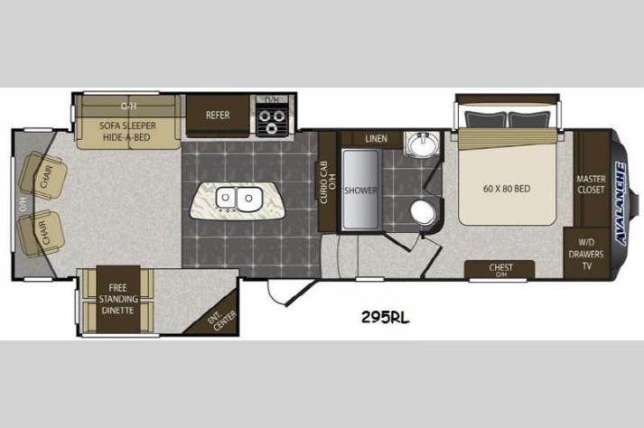 Floorplan - 2014 Keystone RV Avalanche 295RL