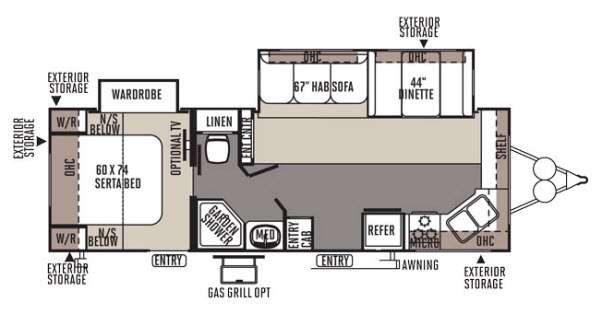 Floorplan - 2014 Forest River RV Rockwood Ultra Lite 2608WS