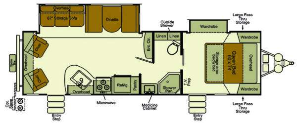 Floorplan - 2014 EverGreen RV Sun Valley S29RLW