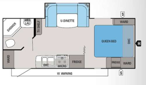 Floorplan - 2013 Jayco White Hawk 21DSRB