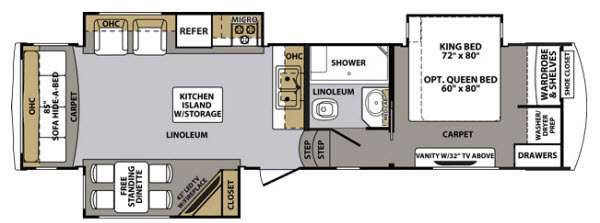 Floorplan - 2014 Forest River RV Cardinal 3030RS