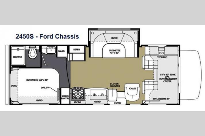 Floorplan - 2014 Forest River RV Sunseeker 2450S Ford