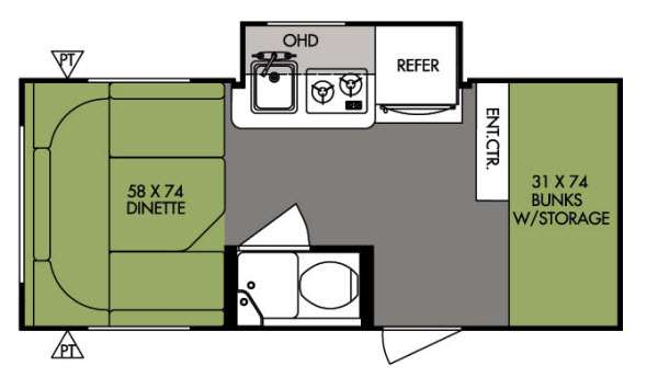 Floorplan - 2014 Forest River RV R Pod RP 176
