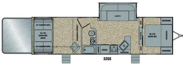Floorplan - 2014 EverGreen RV Amped 32GS