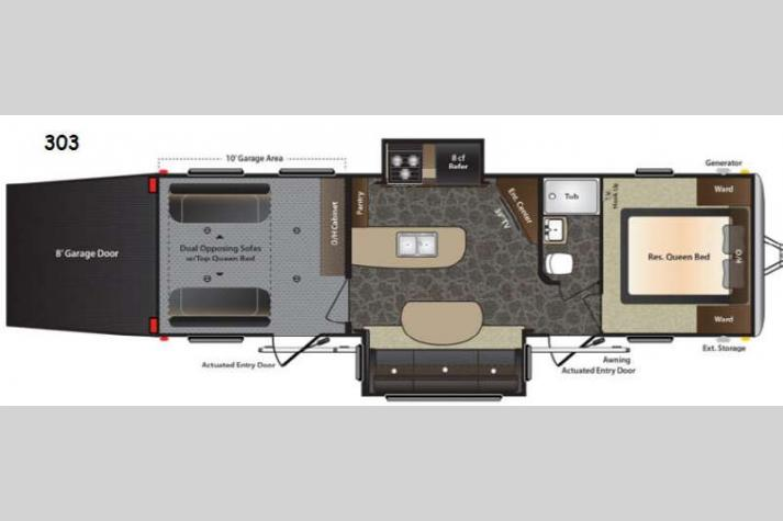 Floorplan - 2014 Keystone RV Impact 303