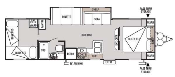 Floorplan - 2014 Forest River RV Wildwood X-Lite 272QBXL