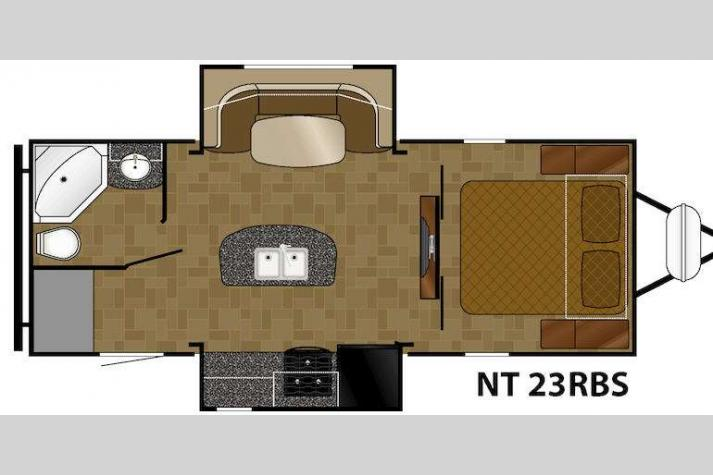 Floorplan - 2014 Heartland North Trail 23RBS