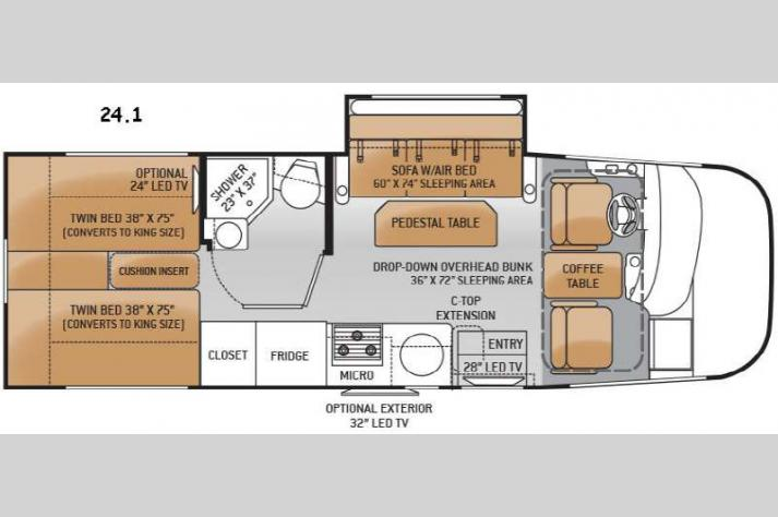 Floorplan - 2015 Thor Motor Coach Axis 24 1
