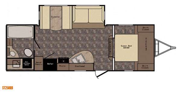 Floorplan - 2015 CrossRoads RV Sunset Trail Super Lite ST250RB