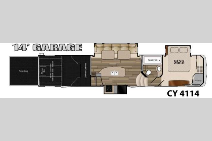 Floorplan - 2015 Heartland Cyclone 4114