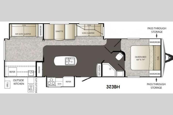 Floorplan - 2015 Keystone RV Outback 323BH