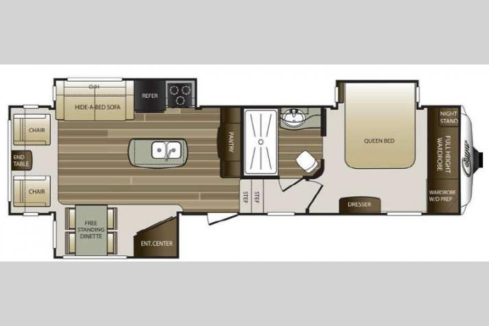 Floorplan - 2015 Keystone RV Cougar 313RLI