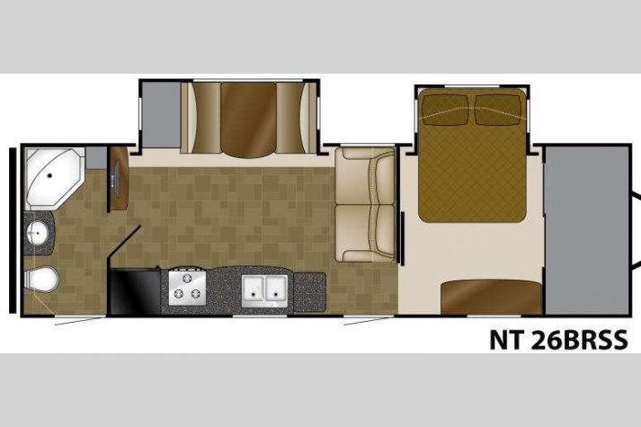 Floorplan - 2015 Heartland North Trail 26BRSS King