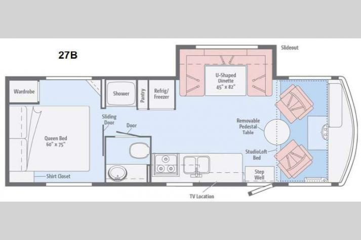 Floorplan - 2015 Winnebago Brave 27B