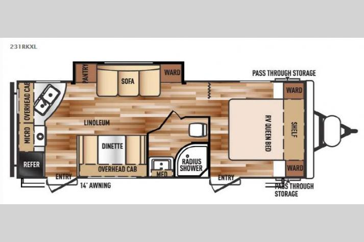 Floorplan - 2015 Forest River RV Wildwood X-Lite 231RK