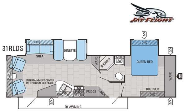 Floorplan - 2015 Jayco Jay Flight 31RLDS