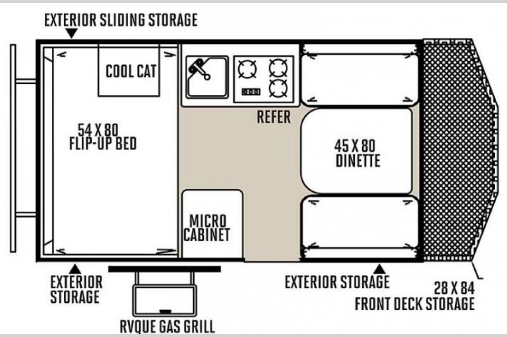 Floorplan - 2015 Forest River RV Rockwood Hard Side Series A122BH