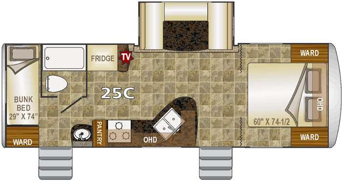 Floorplan - 2015 Northwood Nash 25C