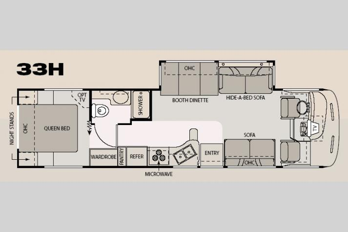 Floorplan - 2007 Four Winds RV Hurricane 33H