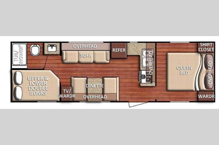 Floorplan - 2016 Gulf Stream RV Kingsport 275 FBG SE Series