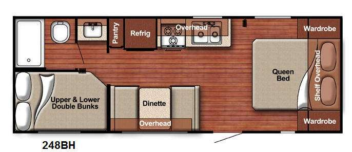 Floorplan - 2016 Gulf Stream RV Kingsport 248 BH