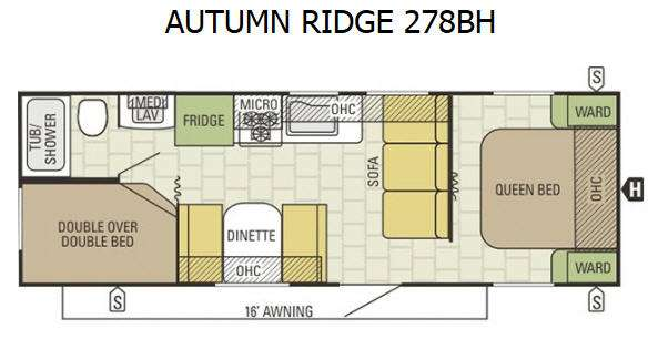 Floorplan - 2016 Starcraft Autumn Ridge 278BH