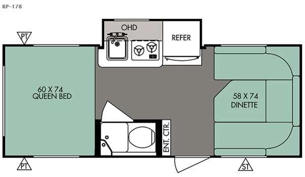 Floorplan - 2016 Forest River RV R Pod RP-178