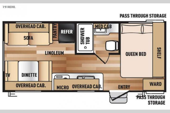 Floorplan - 2016 Forest River RV Wildwood X-Lite 191RDXL