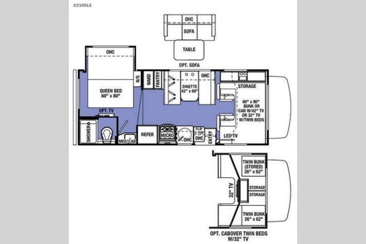 Floorplan - 2016 Forest River RV Sunseeker LE 2250SLE Ford