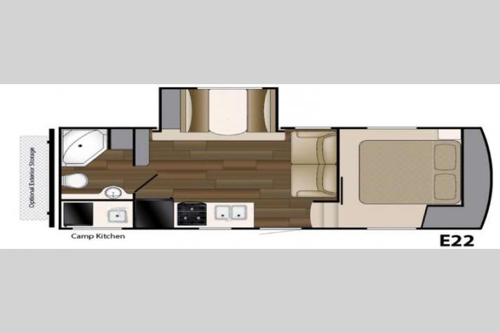 Floorplan - 2016 Heartland ElkRidge Xtreme Light E22
