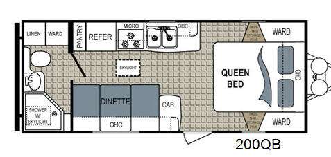 Floorplan - 2015 Dutchmen RV Kodiak Ultimate 200QB