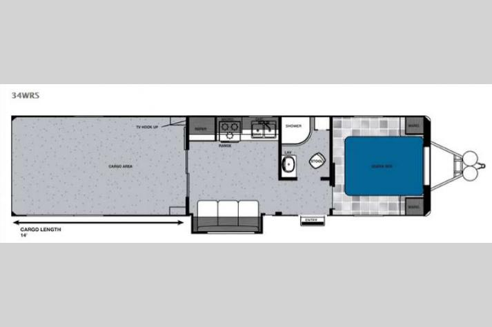 Floorplan - 2016 Forest River RV Work and Play 34WRS