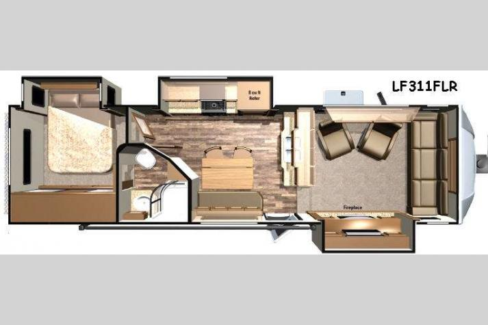 Floorplan - 2016 Open Range RV Light LF311FLR