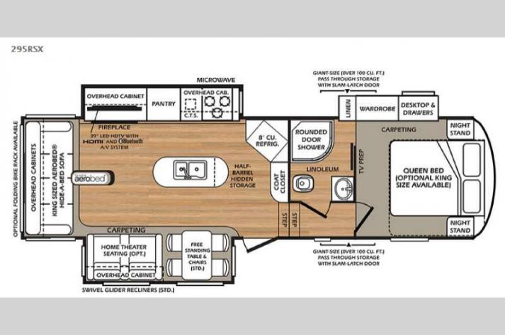 Floorplan - 2016 Forest River RV Wildcat 295RSX