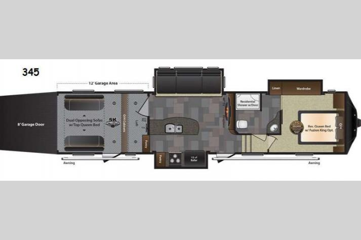 Floorplan - 2016 Keystone RV Fuzion 345