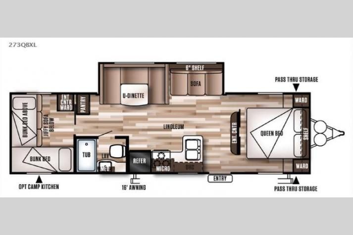 Floorplan - 2016 Forest River RV Wildwood X-Lite 273QBXL