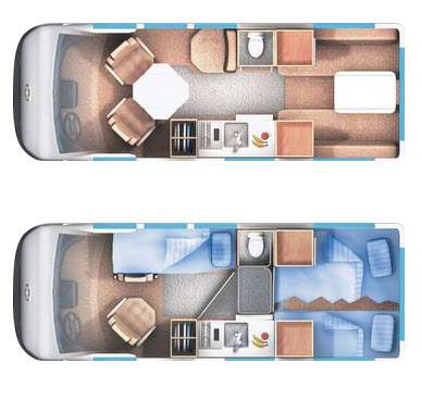 Floorplan - 2016 Roadtrek Popular 190