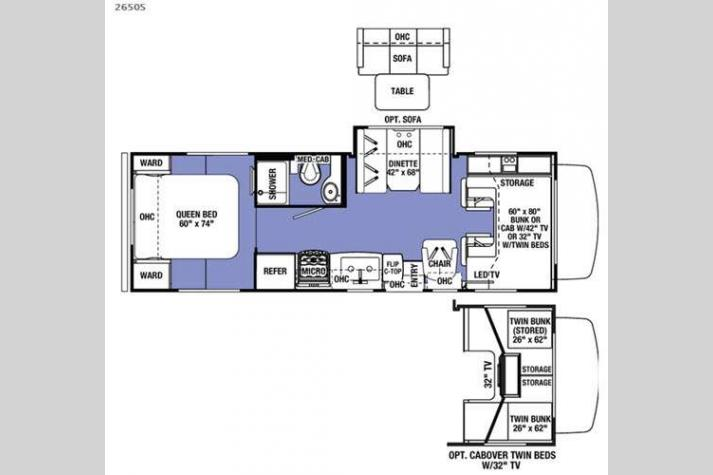 Floorplan - 2017 Forest River RV Sunseeker 2650S Ford
