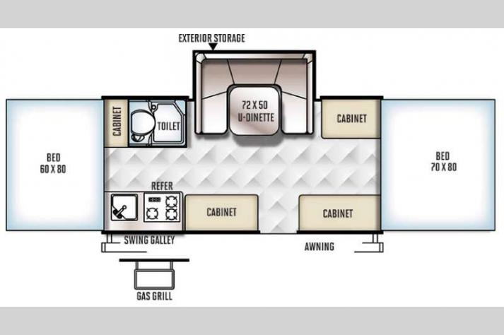 Floorplan - 2017 Forest River RV Rockwood Freedom Series 2560G