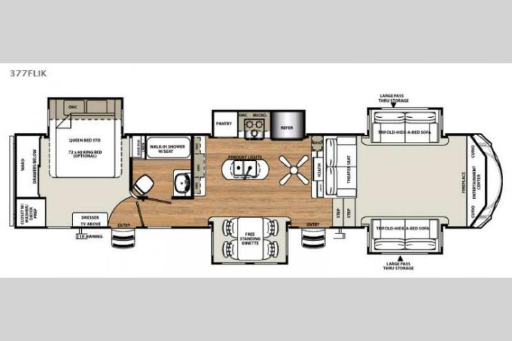 New Forest River RV Sandpiper FLIK Fifth Wheel At Big - Forest river 5th wheel floor plans
