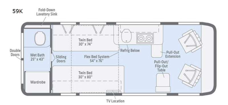 Travato Motor Home Class B Rv Sales 4 Floorplans